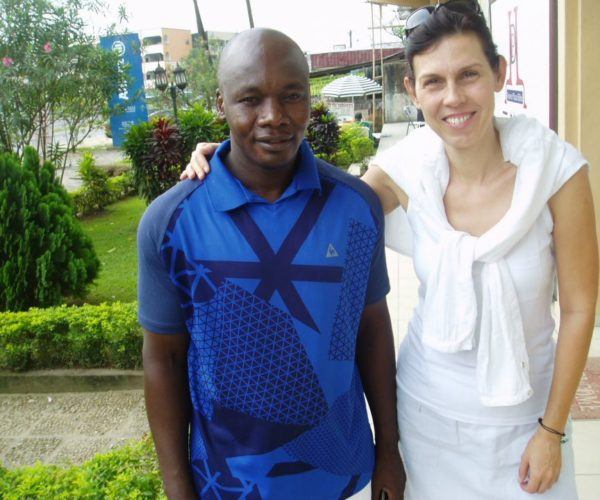 With School director in Douala, Cameroon