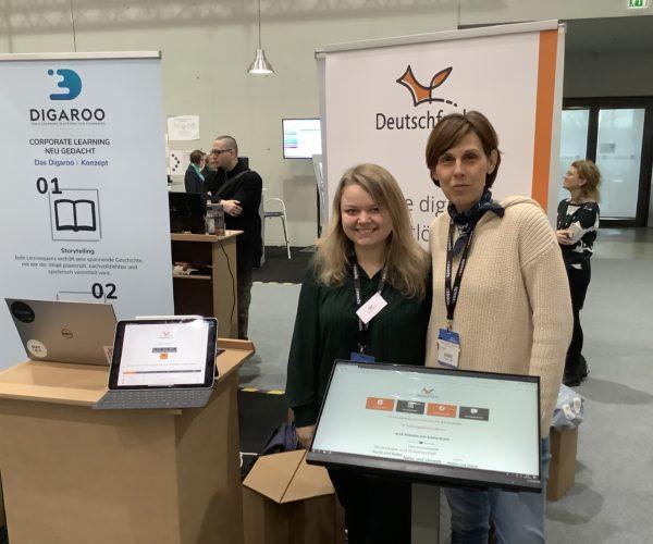 Partnerünkkel a Deutschfuchs-szal a Learntec-en, a digitális tanulás vásárán