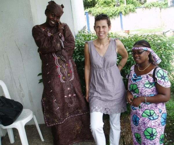 Nice colleagues of the German School in Douala, Cameroon